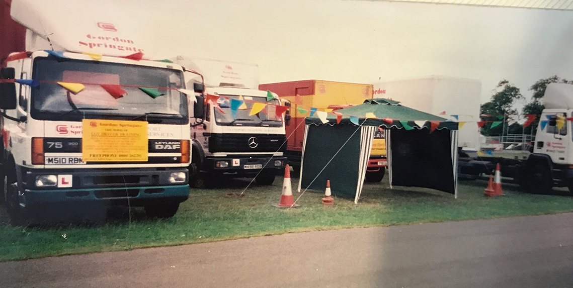 Lorries and tent