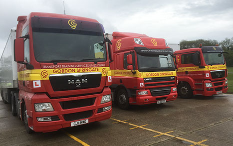 Line of lorries